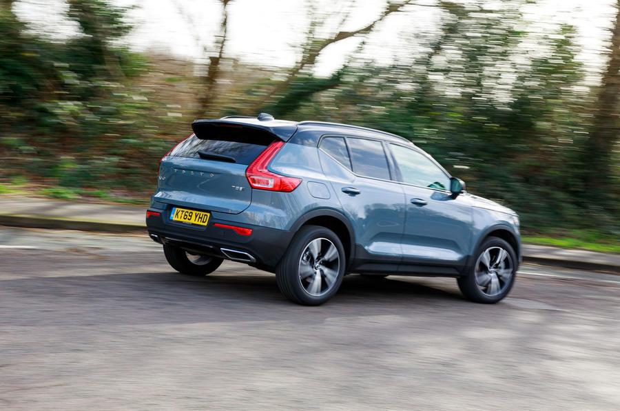 Volvo XC40 Recharge T5 plug-in hybrid 2020 UK first drive review - hero rear