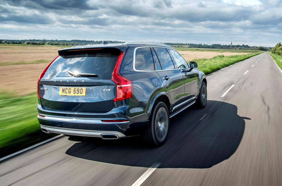 Volvo XC90 B5 petrol 2020 UK first drive review - hero rear