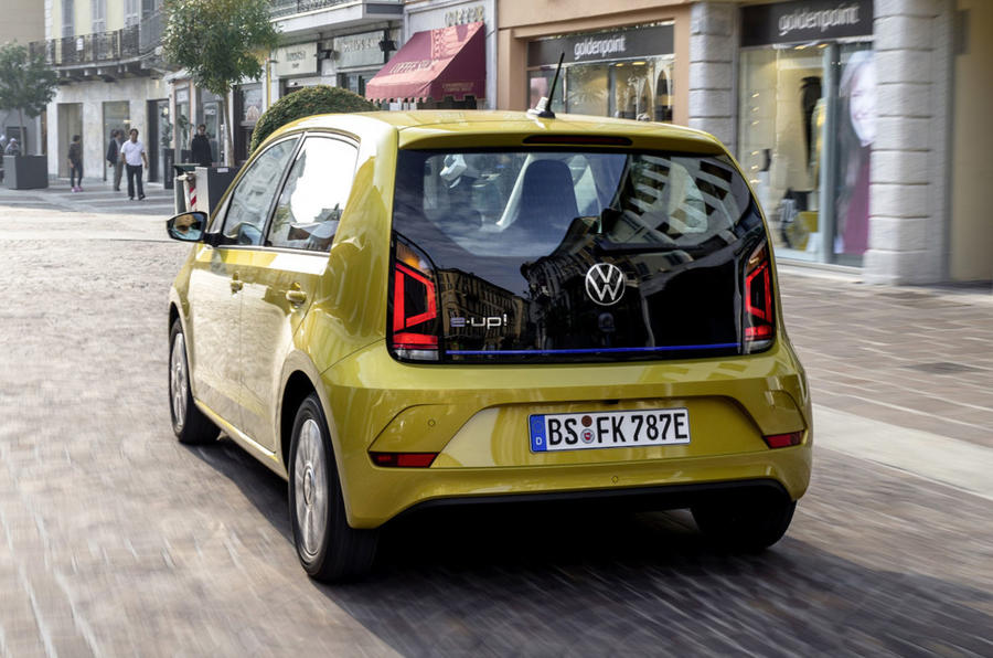 Volkswagen e-Up 2020 first drive review - hero rear