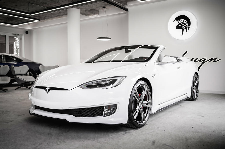 Custom Tesla Model S CONVERTIBLE revealed
