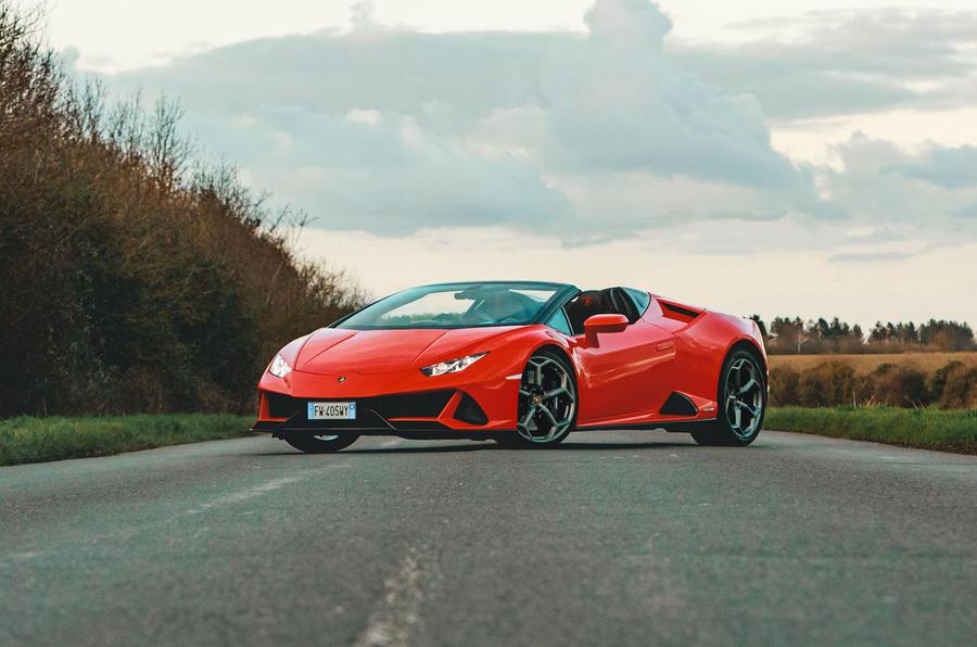 Lamborghini Huracán Spyder 2020 UK first drive review - static front