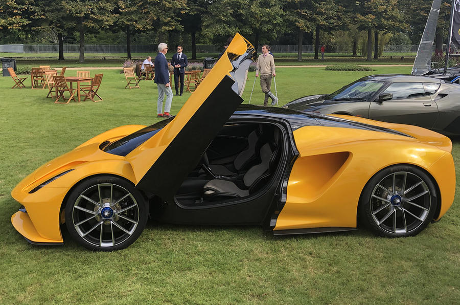 2020 Lotus Evija at Concours of Elegance - side
