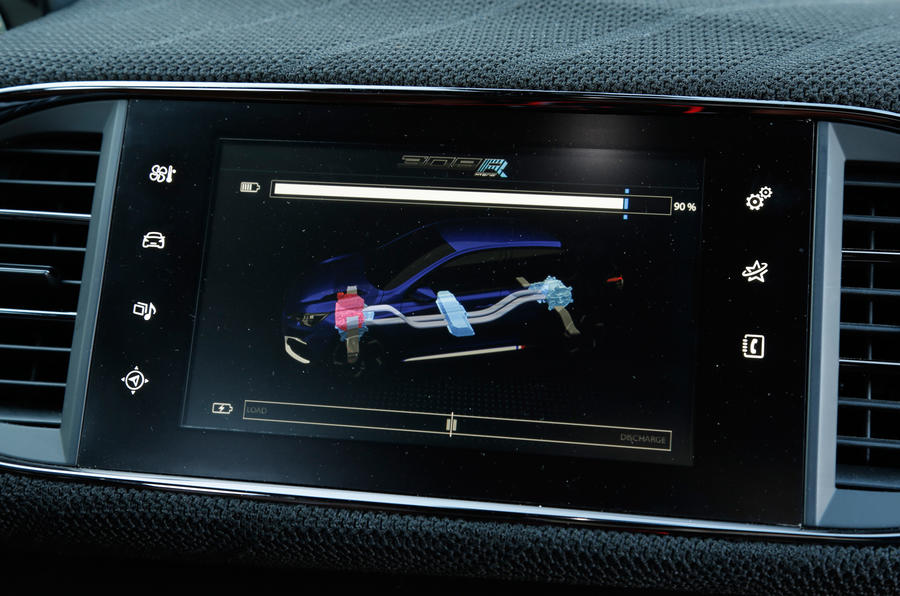 Peugeot 308 R Hybrid infotainment