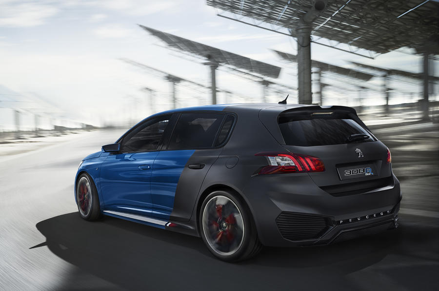 493bhp peugeot 308 r hybrid could make production autocar. Black Bedroom Furniture Sets. Home Design Ideas