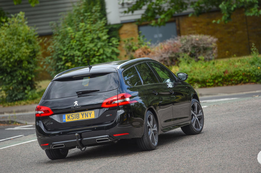 Peugeot 308 GT 2018 first drive UK review cornering rear
