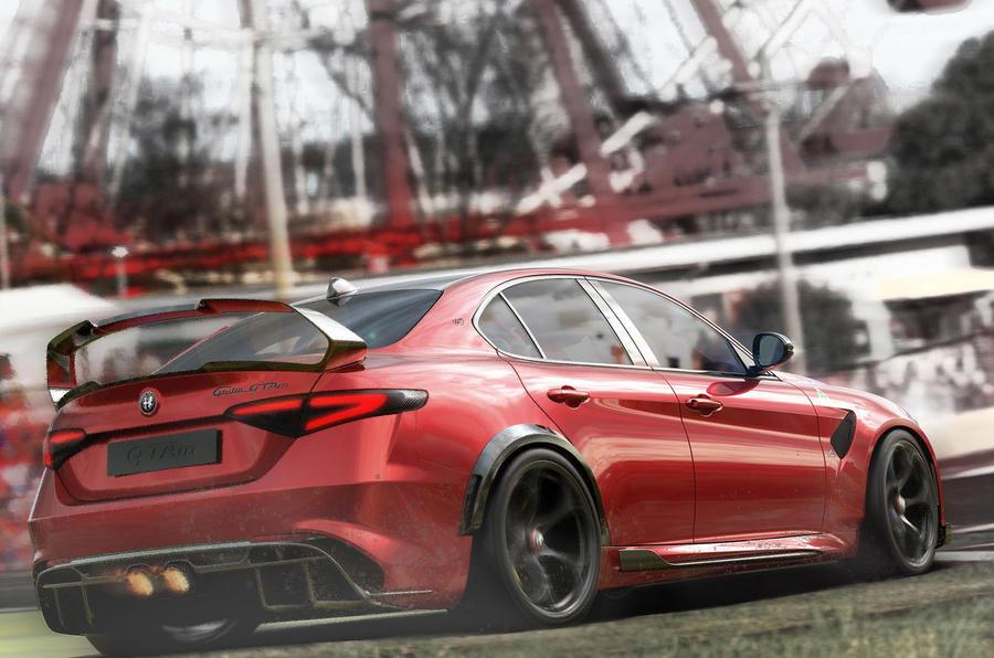 Alfa Romeo Giulia GTA 2020 - tracking rear