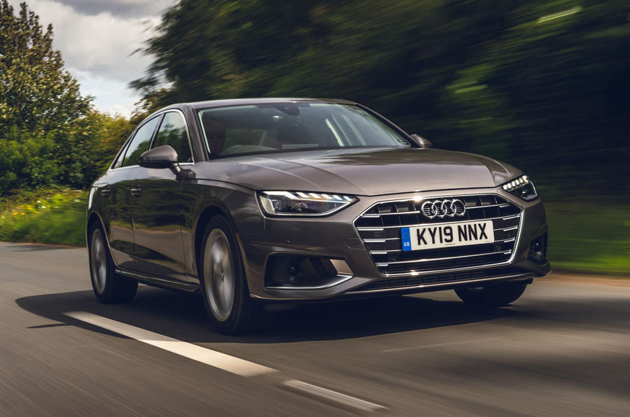 Audi A4 35 TFSI 2019 UK first drive review - on the road front