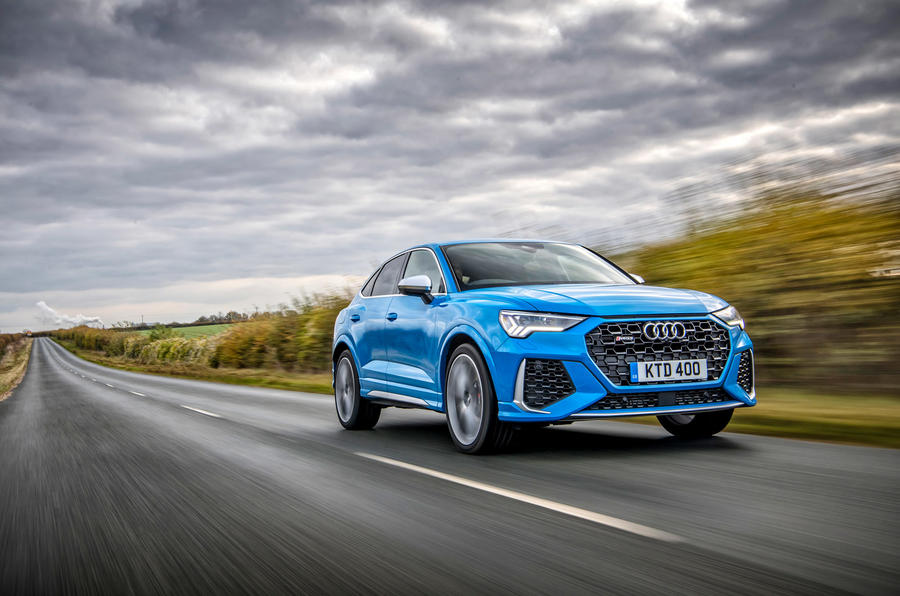 Audi RS Q3 Sportback 2019 UK first drive review - on the road front