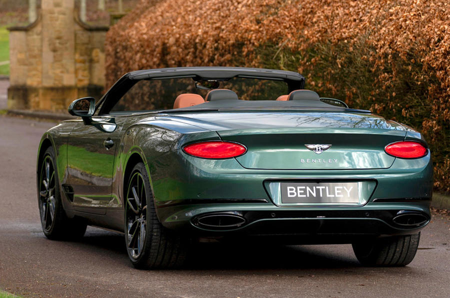 Bentley Mulliner Continental GT Convertible Equestrian Edition 2020 - tracking rear