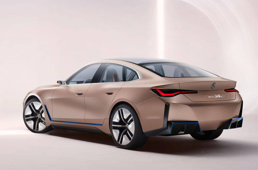 bmw i4 electric saloon shown in near