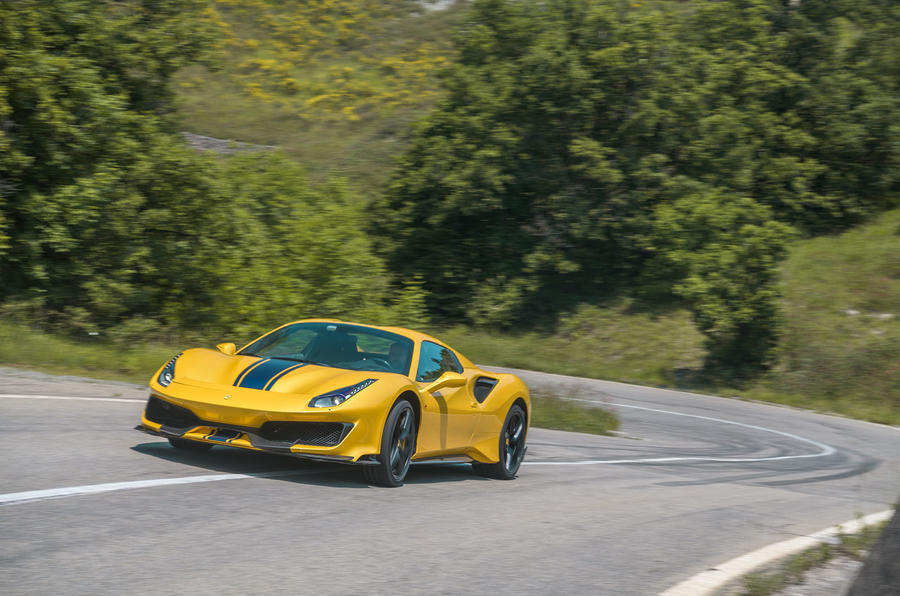 Ferrari 488 Pista Spider 2019 first drive review - roof up front