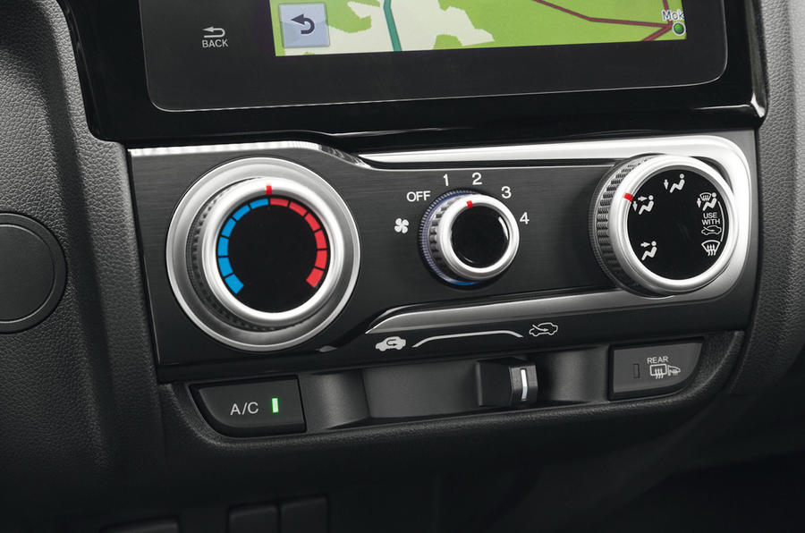 Honda Jazz climate controls