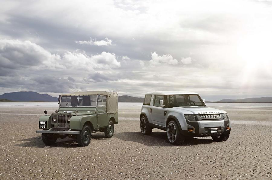 Land Rover Series I and DC100 concept