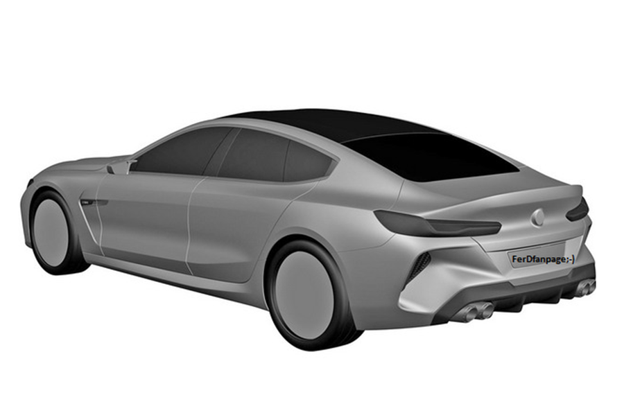 BMW M8 Gran Coupe styling revealed in patent images