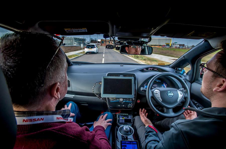 Grand Drive Nissan Leaf - interior