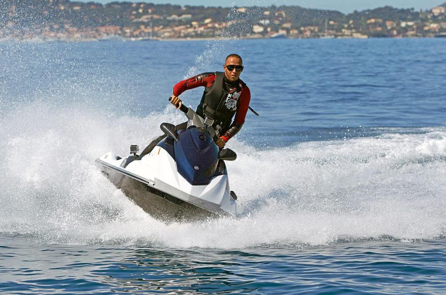Lewis Hamilton jet ski