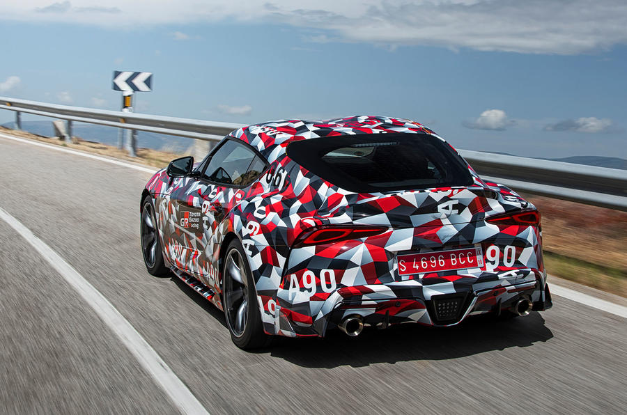 Toyota Supra 2019 prototype first drive review hero rear