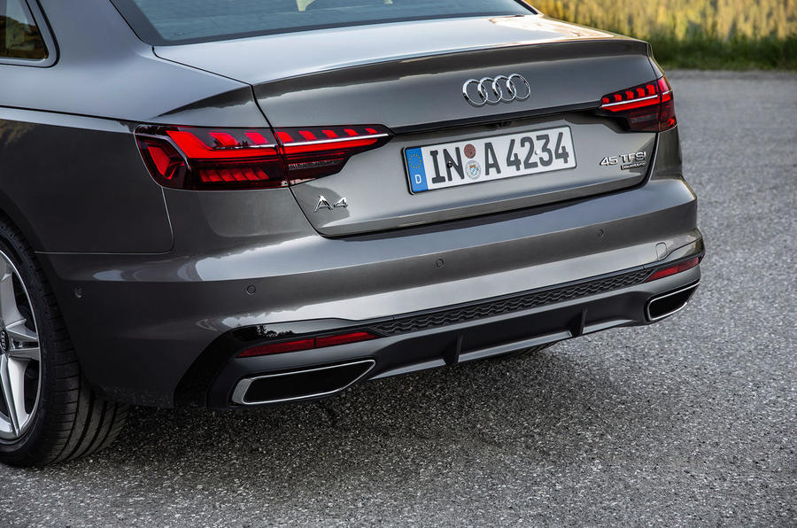 Audi A4 2019 first drive review - rear bumper