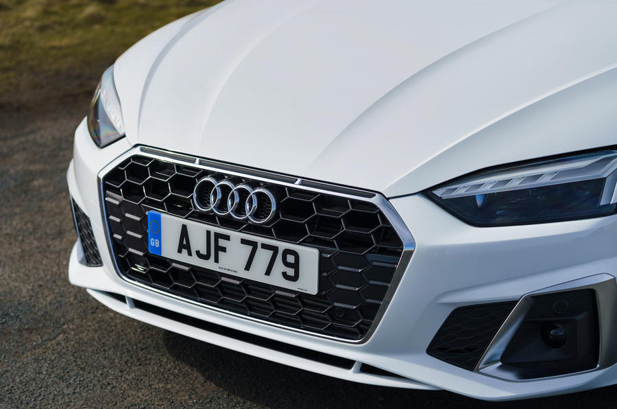 Audi A5 Coupe 2020 UK first drive review - nose