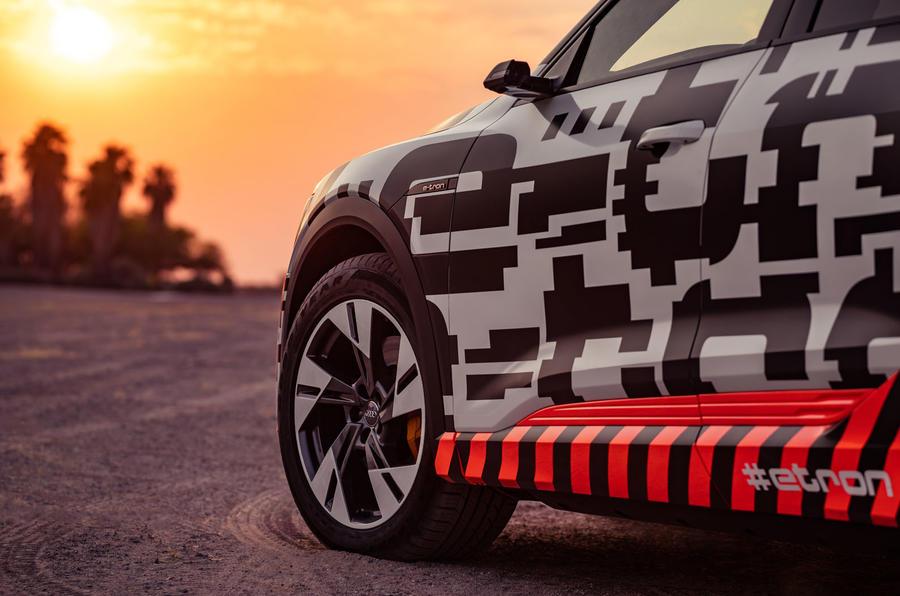 Audi e-Tron 2019 prototype first drive review - alloy wheels