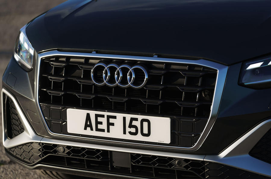Audi Q2 35 TFSI Sport 2020 UK first drive review - nose