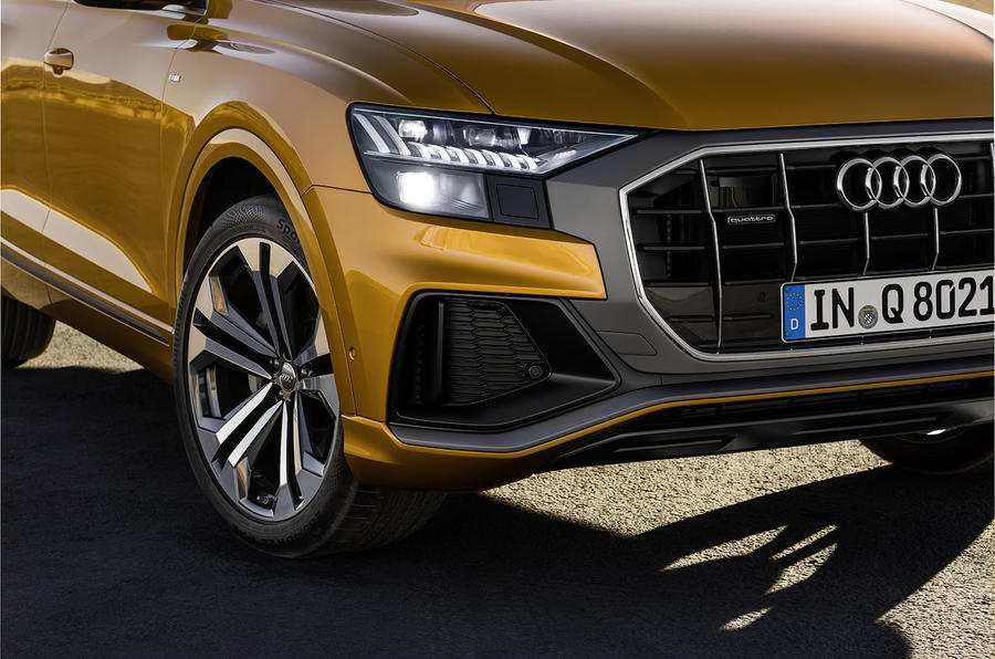 Audi Q8 2018 first drive review headlights