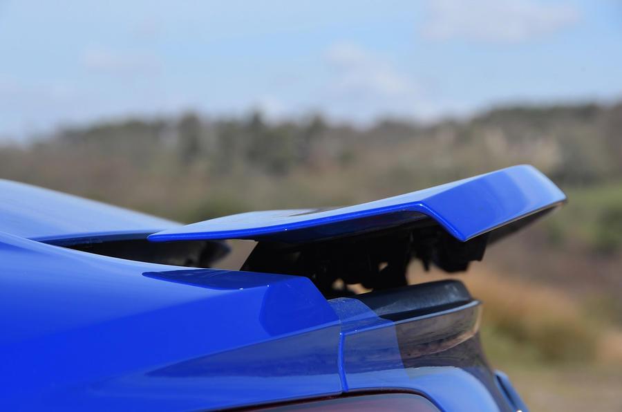 Audi R8 RWS 2018 UK review rear spoiler
