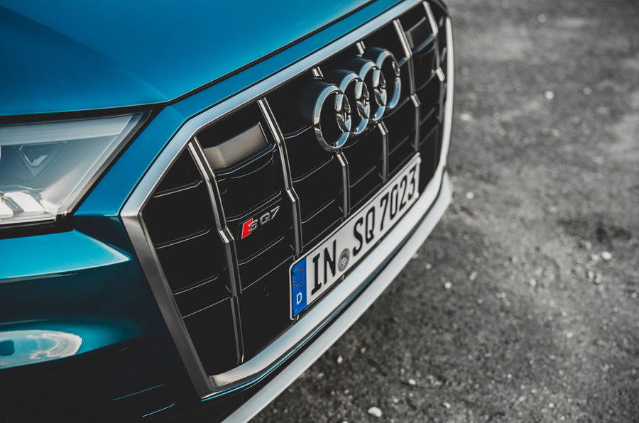 Audi SQ7 2020 first drive review - nose