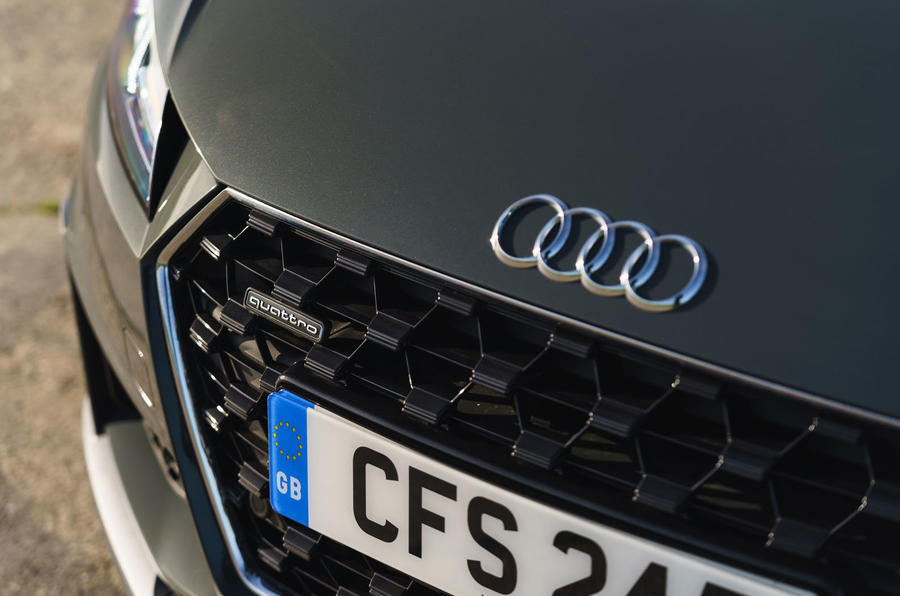 Audi TT Roadster 2019 UK first drive review - nose
