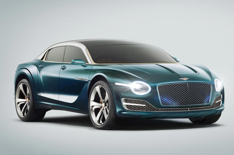 Bentley EV saloon render 2025 - static front