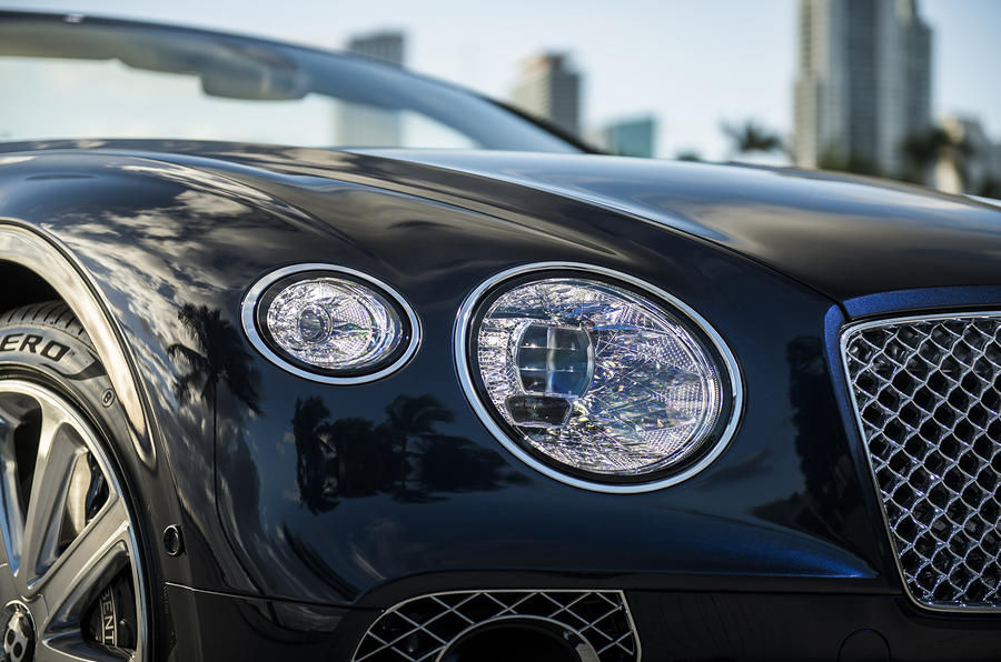 Bentley Continental GT Convertible 2019 UK first drive review - headlights