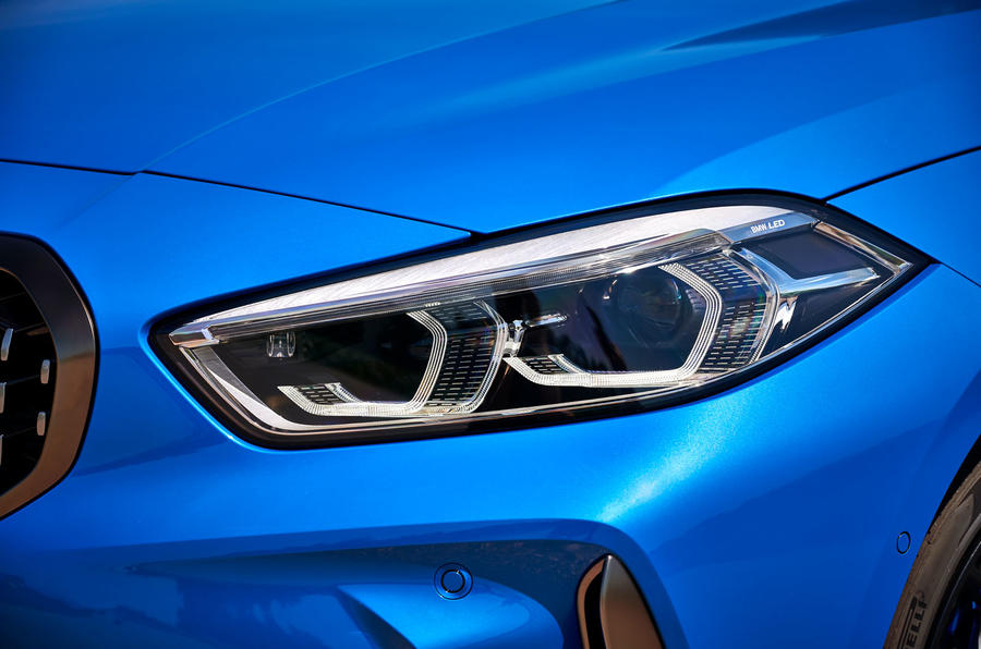 BMW 1 Series M135i 2019 first drive review - headlights
