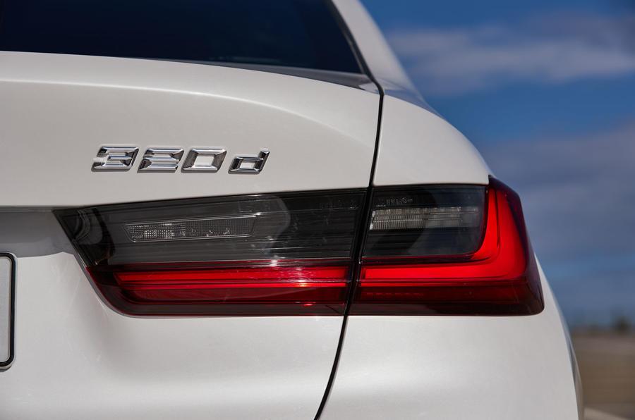 BMW 3 Series 320d Sport Line 2019 first drive review - rear lights