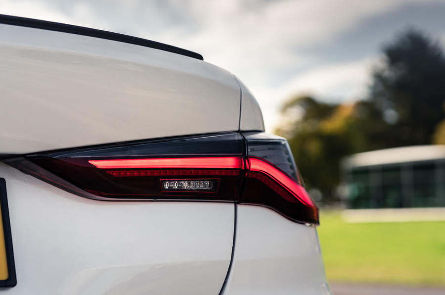 BMW 4 Series 420d 2020 UK first drive review - rear lights