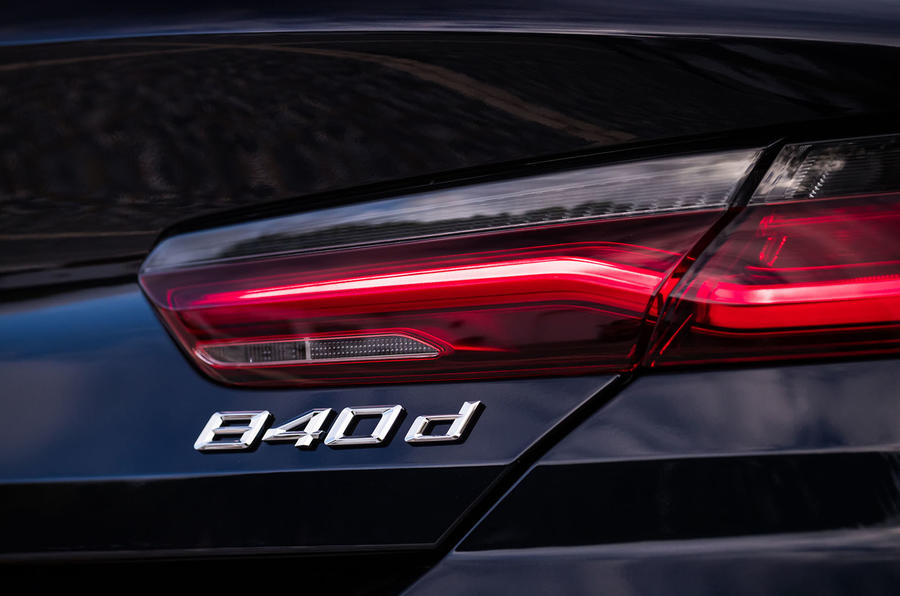 BMW 840d 2019 first drive review - rear lights