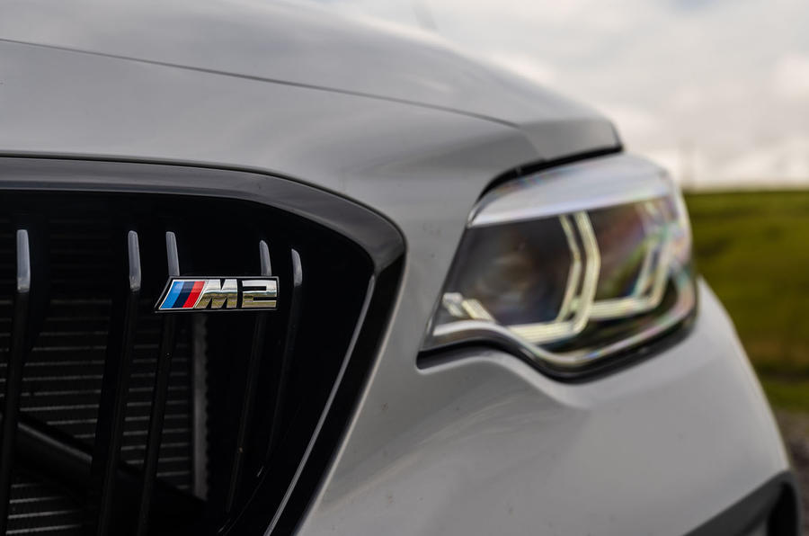 BMW M2 CS 2020 UK first drive review - front badge
