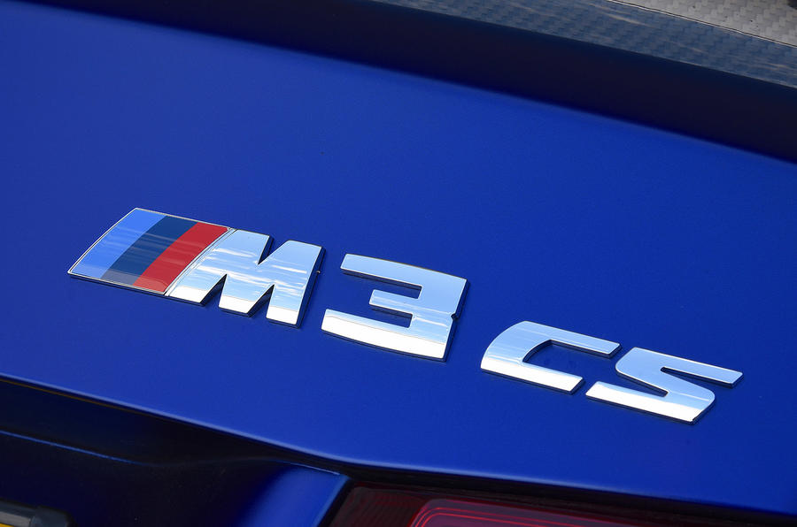 BMW M3 CS 2018 UK first drive review CS badge