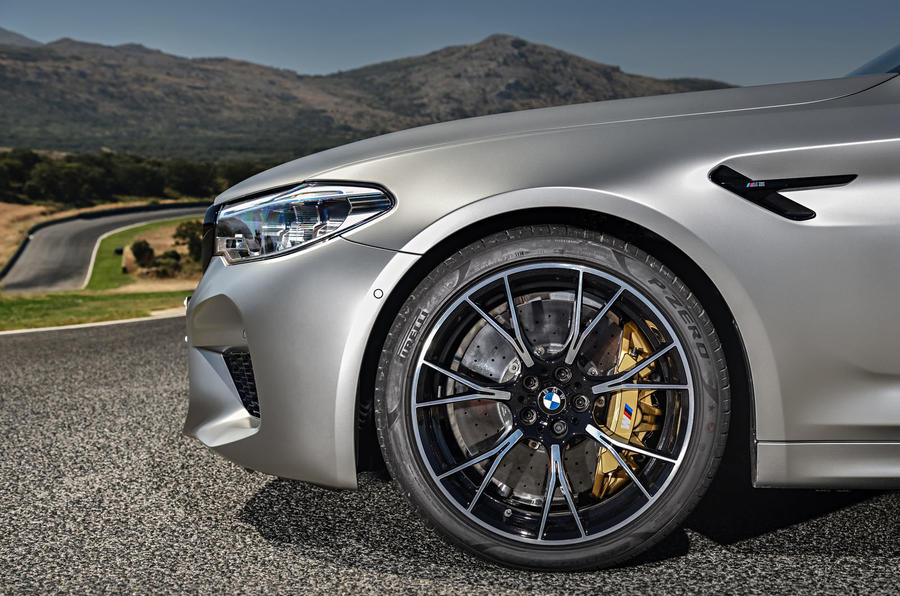 BMW M5 Competition 2018 first drive review front end