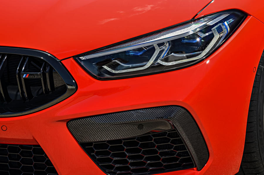 BMW M8 Competition Coupé 2019 first drive review - headlights