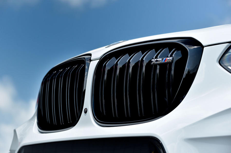 BMW X3 M Competition 2019 first drive review - kidney grille