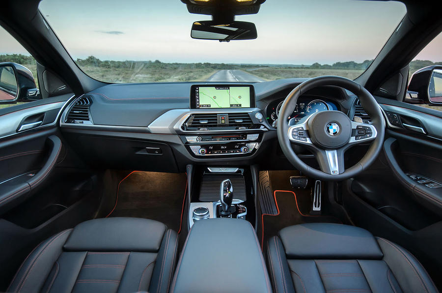 BMW X4 2018 UK first drive review cabin