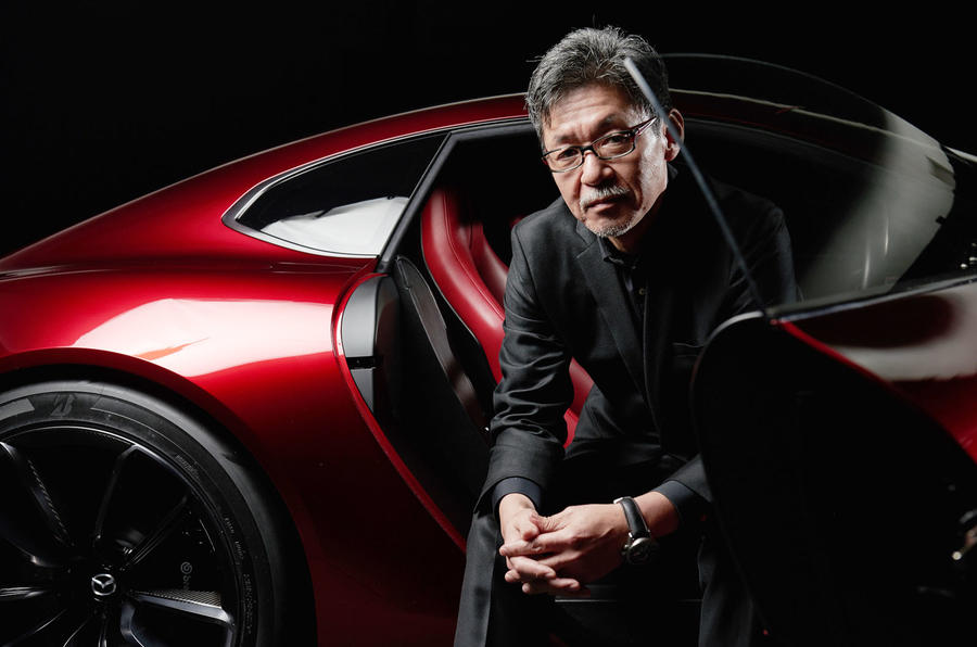 Ikuo Maeda with concept car