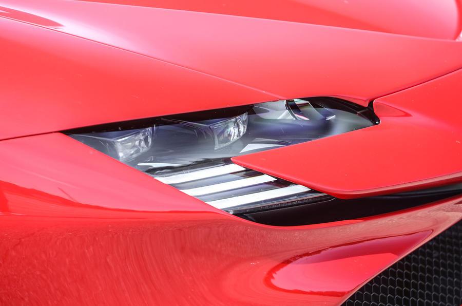 Ferrari SF90 Stradale 2020 first drive review - headlights