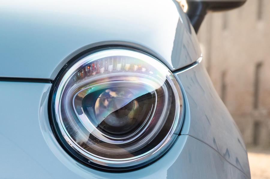 Fiat 500 Hybrid 2020 first drive review - headlights