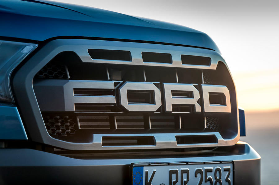 Ford Ranger Raptor 2019 first drive review - front grille