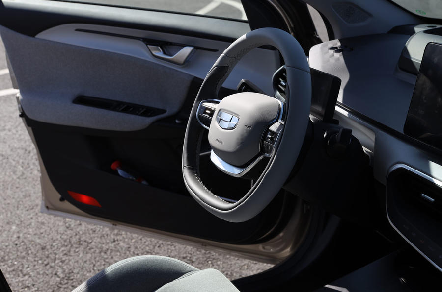 Geely Geometry A 2019 prototype drive - steering wheel