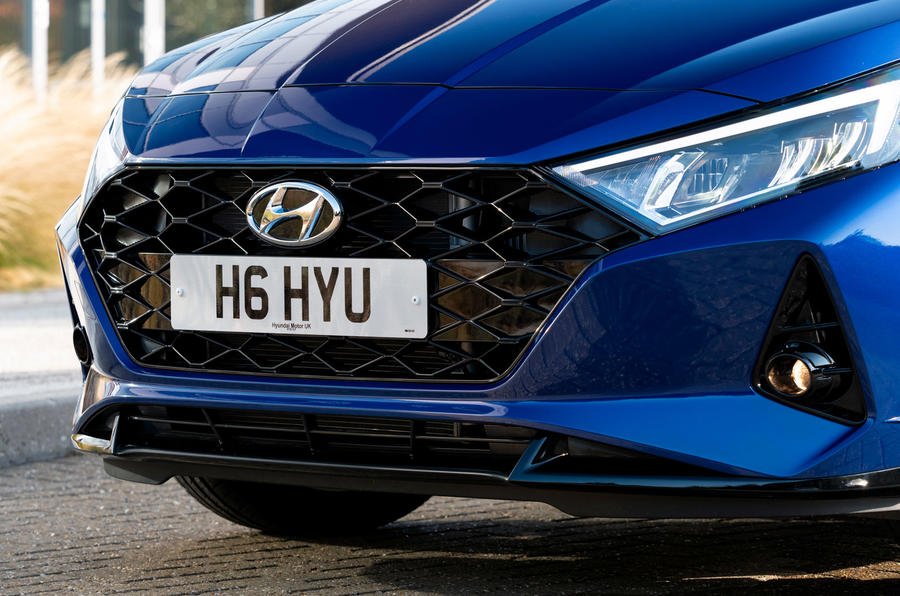 Hyundai i20 2020 UK first drive review - nose