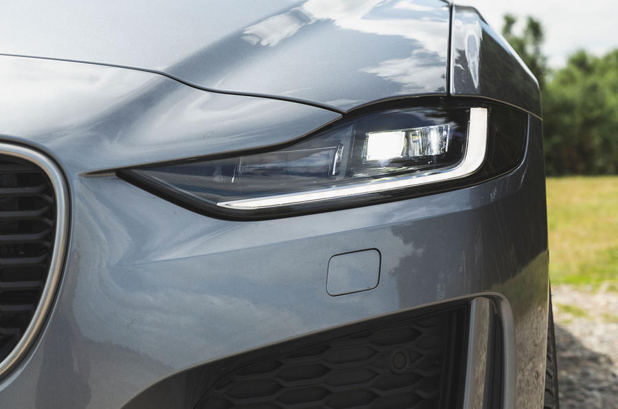 Jaguar XE P300 2019 UK first drive review - headlights