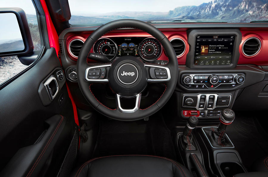 Jeep Wrangler (JL) Unlimited Rubicon 2018 review dashboard