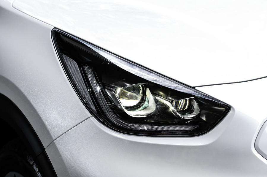Kia Niro EV 2019 first drive review headlights